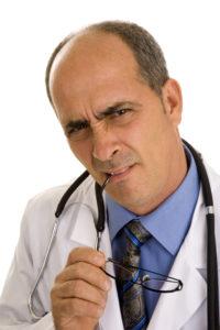 Frustratie bij de arts als  hij geen oorzaak kan vinden