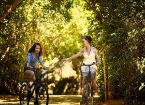 Door het fietsen worden je gedachten afgeleid