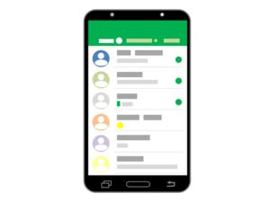 De HyperVen app  op de smartphone