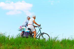 rustig fietsen om  stress te verminderen
