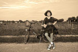 Gisteren ben ik weer op de fiets naar een ander dorp geweest